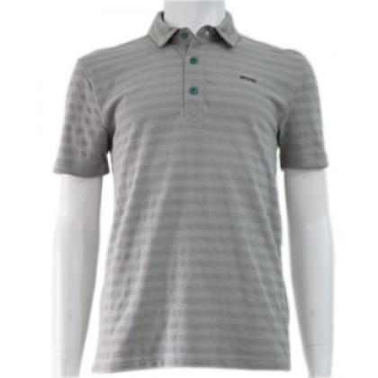Amnig Men Essential Pique Stripe Polo Top