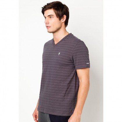 Amnig Men Active V Neck Short Sleeve Tee