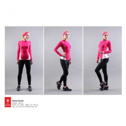 Amnig Women Maxforce Dual Tone Compression Long Sleeve Top