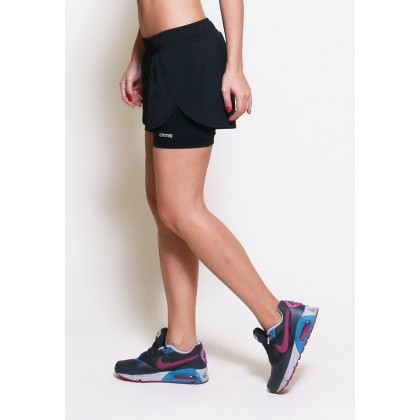 Amnig Women Velocity Running Shorts with Inner