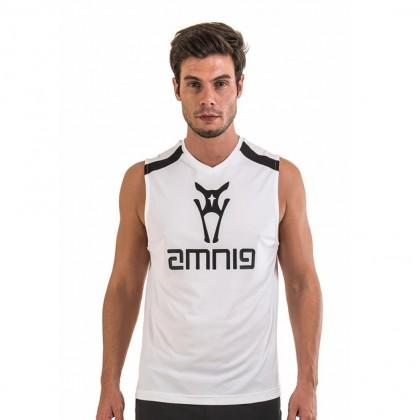 Amnig Men Agile Training Singlet - White