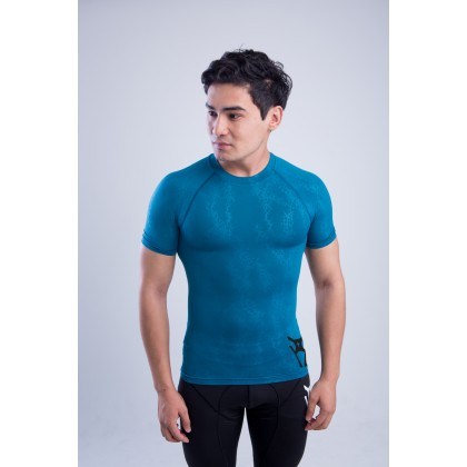 Amnig Men Fury Compression Short Sleeve Top