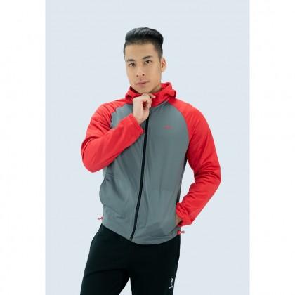 Amnig Men Active Raglan Hoodie Jacket