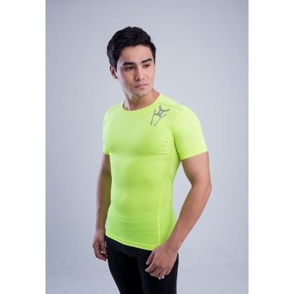Amnig Men Ignite Compression Short Sleeve Top